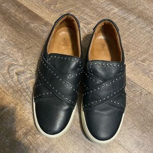 Frye leather slip on shoes